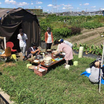 9月8日農業クラブ-落花生の収穫-野外調理