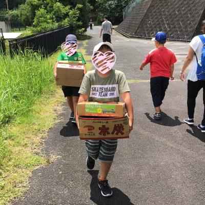 山添村キャンプ1日目荷物運び