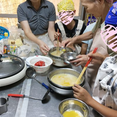 8月27日料理教室オレンジゼリー作り