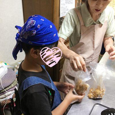 8月27日料理教室サラダ作り